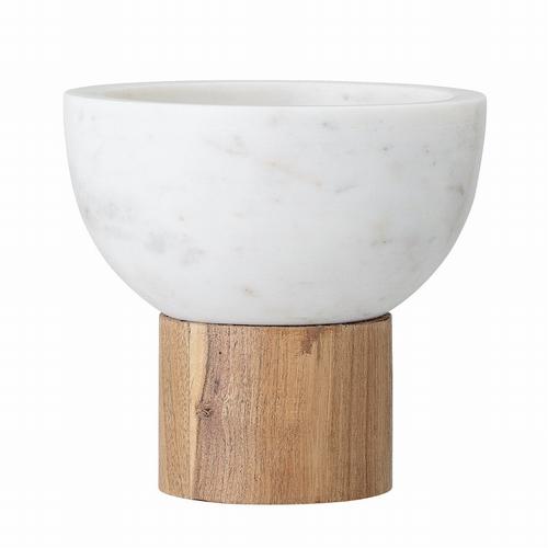 Découvrez ce joli bol en marbre sur pied en bois. Matière :