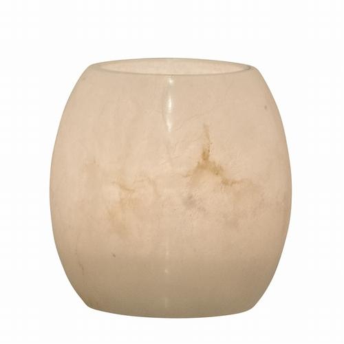 Ce joli photophore votif en albâtre blanc saura ajouter la