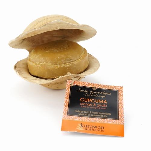 Savon ayurvédique Curcuma Purifiant - 100g Huile de noix