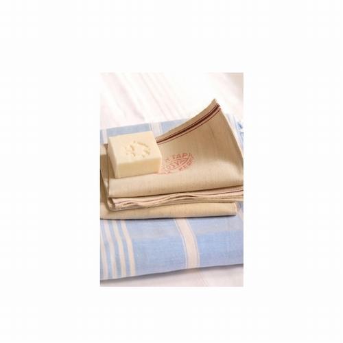 Joli gant à frotter, laine de lin  Gant de gommage